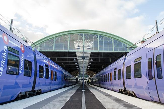 En bild på Pågatågen vid Malmö station
