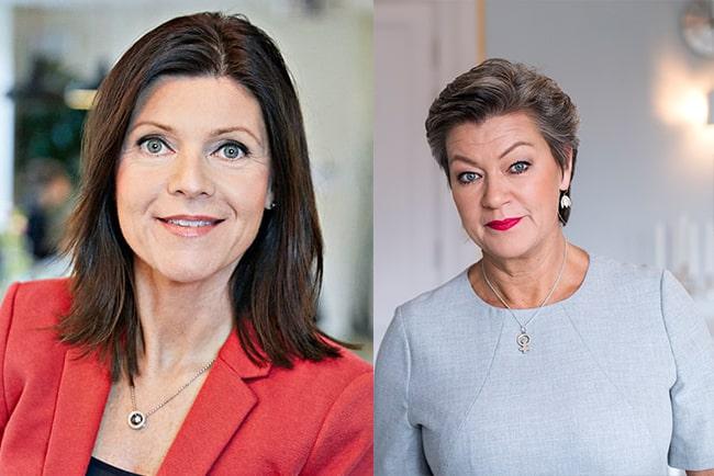 ny arbetsmarknadsminister eva nordmark och tidigare minister ylva johansson