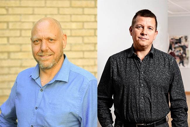 Pontus Georgsson, ordförande i Pappers, och Veli-Pekka Säikkälä, avtalssekreterare i IF Metall